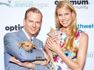 Brian Balthazar and Beth Stern show off puppy