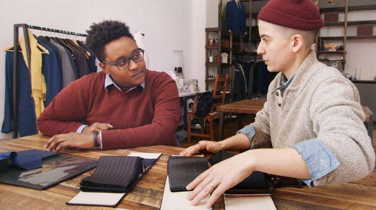Bindle & Keep co-founder Rae Tutera, right, confers