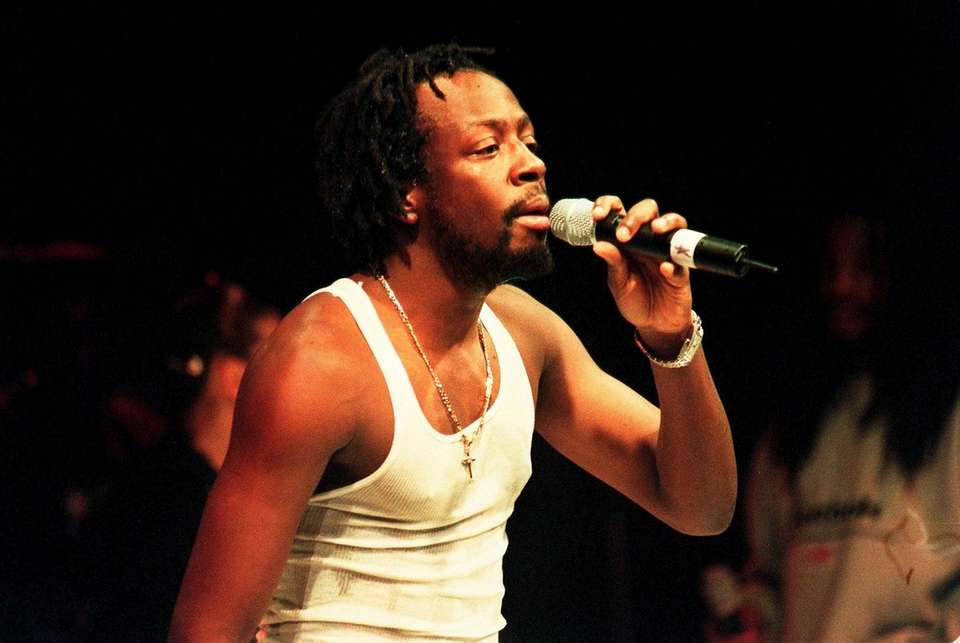 Rap artist Wyclef Jean performing Sunday night at