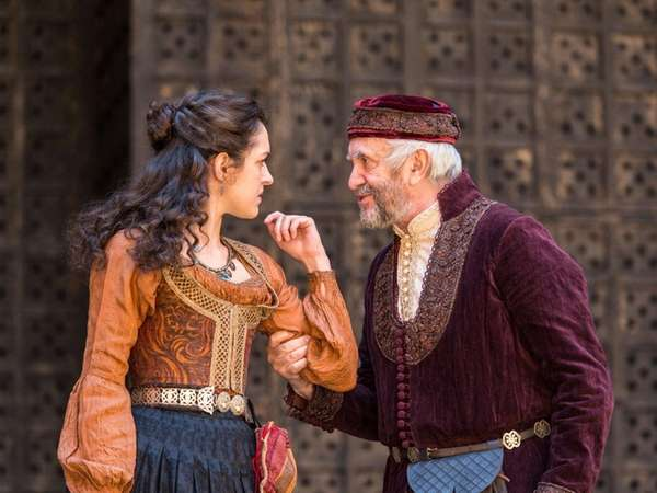 Jonathan Pryce, right, stars with his daughter Phoebe