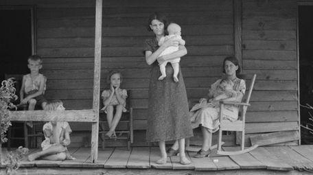 A cotton sharecropper family in Macon County, Georgia,