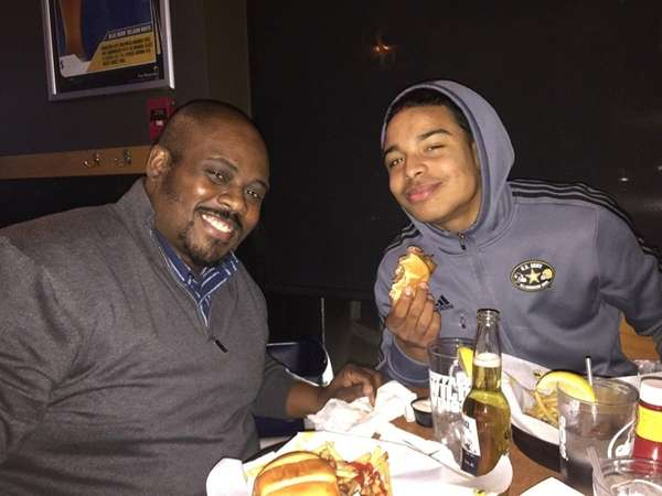 Steve Washington and his son Elijah Riley having