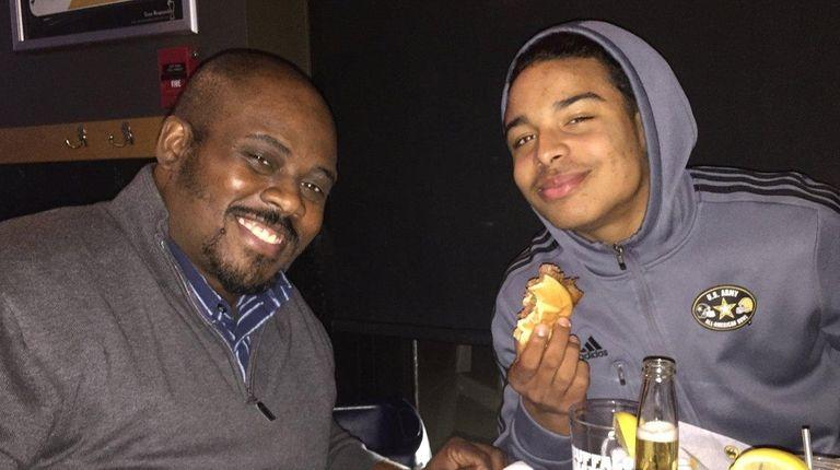 Steve Washington and his son Elijah Riley having