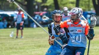 Laxfest Hudson Valley Team member Matthew Fitzpatrick against