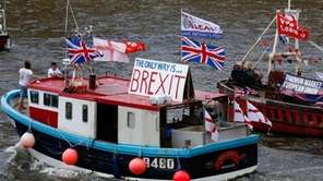 Fishermen and campaigners for the