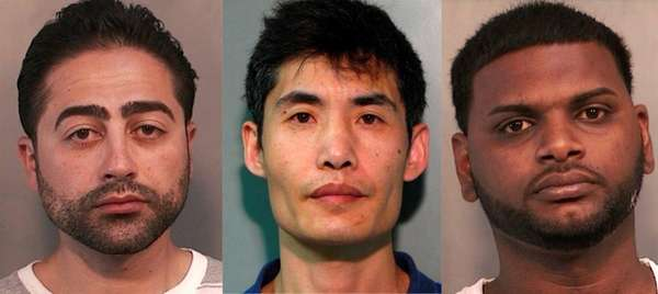 Vladimir Shamalov, 35, left, Guosheng Hu, 42, and