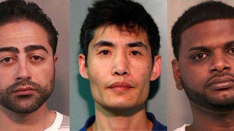 Vladimir Shamalov, 35, left, Guosheng Hu, 42, and
