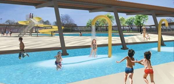 An artist's rendering shows some features proposed for
