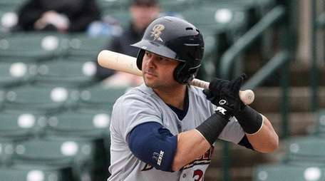 Scranton/Wilkes-Barre RailRiders designated hitter Nick Swisher bats against
