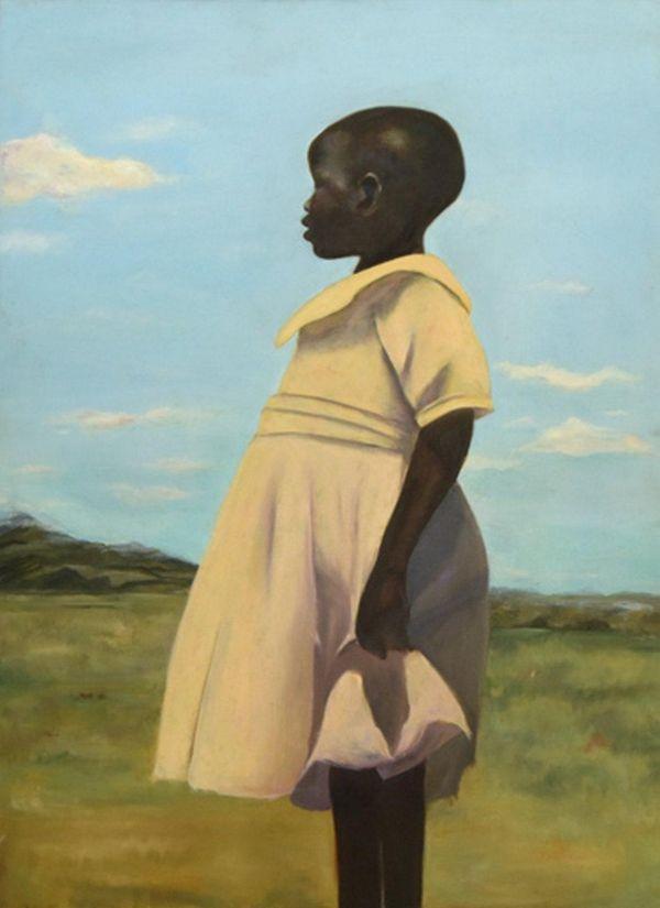 Cliffanie Forrester, 18, of Brooklyn, painted