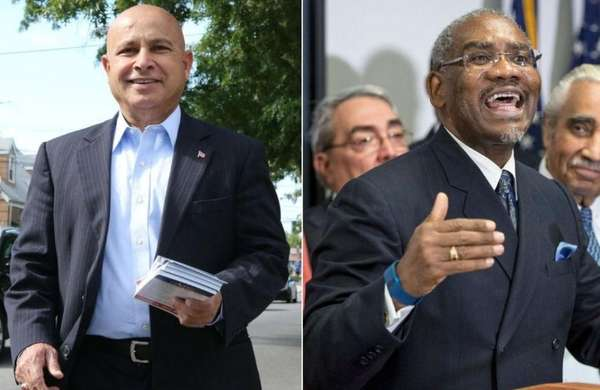 Ali Mirza, left, is a Democrat challenging Rep.