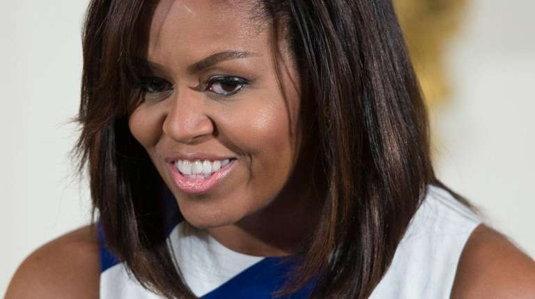 Michelle Obama speaks at the White House on