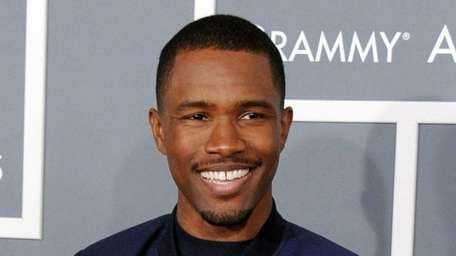 Frank Ocean arrives at the 55th annual Grammy