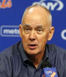 General Manager Sandy Alderson outfield the New York
