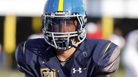 Long Island quarterback Michael Catanese (12) takes snaps