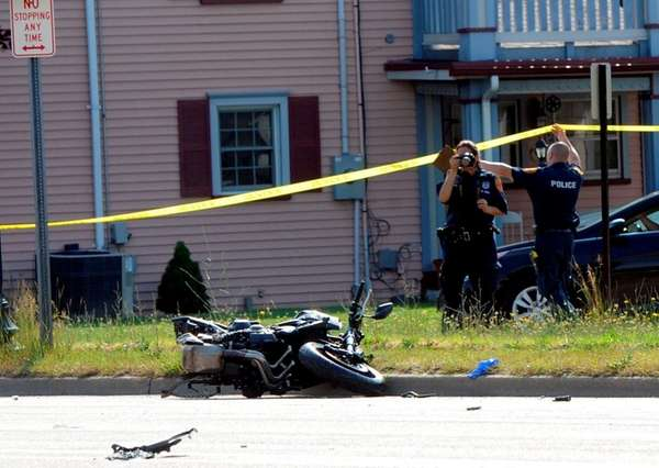A fatal accident investigation closed Montauk Highway between