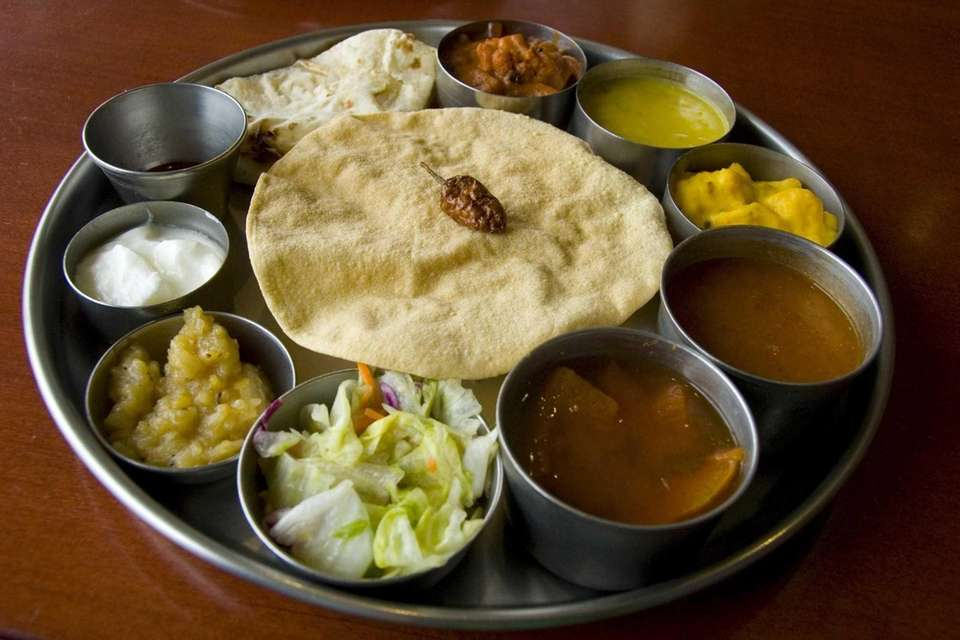 Thali lunch is served at House of Dosas