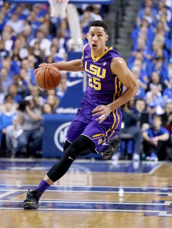 Ben Simmons of the LSU Tigers dribbles the