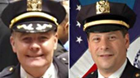 NYPD Deputy Chief John Sprague, left, and NYPD