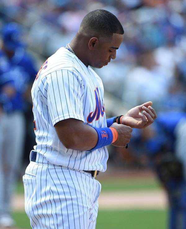 New York Mets center fielder Yoenis Cespedes experienced