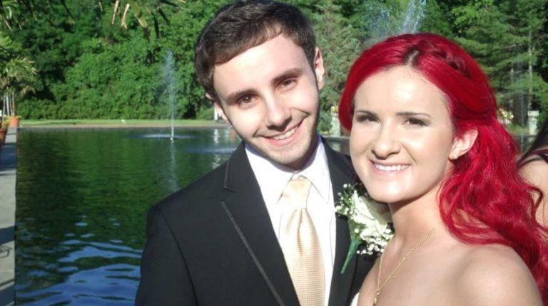 Natalie Winter, 18, and Ryan Bryan, 20, hang
