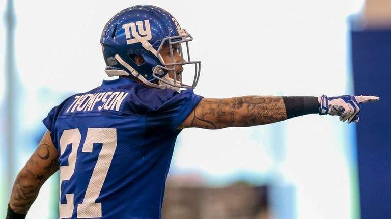 Giants draft pick Darian Thompson during Giants rookie