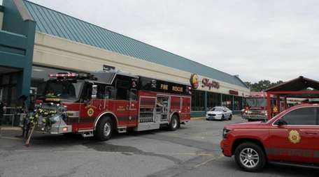 The West Babylon Fire Department and ambulances from