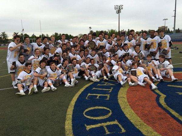 St. Anthony's state championship lacrosse team celebration on