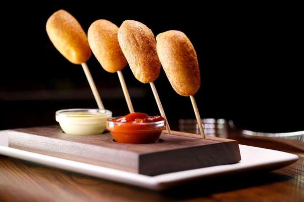 Wagyu beef corn dogs are on the happy