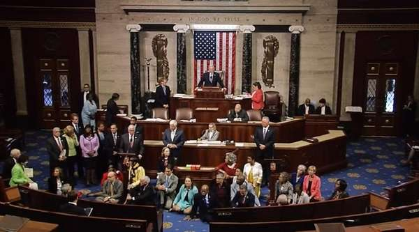 Democrats staged a sit-in on June 22, 2016