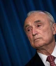 NYPD Commissioner William Bratton during a news conference