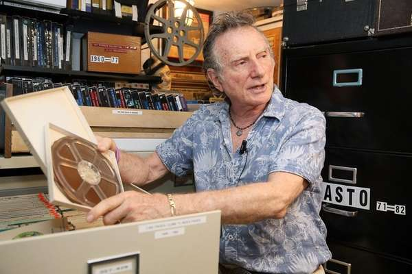 Phil Gries, a collector of television audio looks