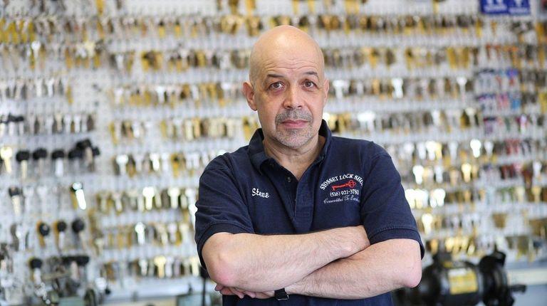 Steve Palumbo, owner of Syosset Lock Shop, at