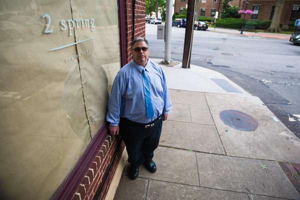 Philip Morizio stands by what was once the