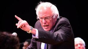 Democratic presidential candidate Bernie Sanders speaks to supporters