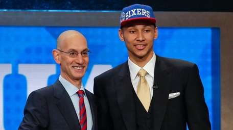 LSU's Ben Simmons poses for a photo with