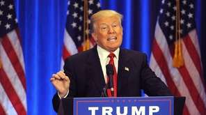 Republican Presidential candidate Donald Trump speaks during an