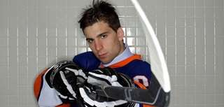 John Tavares poses for a portrait after being