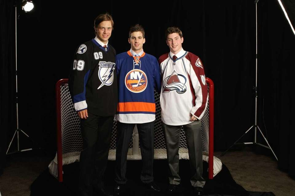From left, second overall draft pick, Victor Hedman