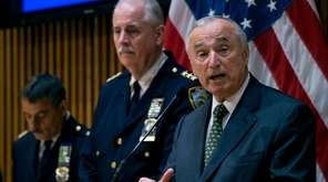 NYPD Commissioner William Bratton, right, with Chief of