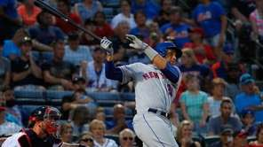James Loney of the New York Mets hits