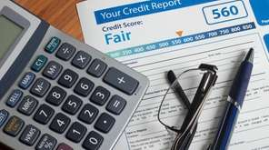 A credit report with a score on a