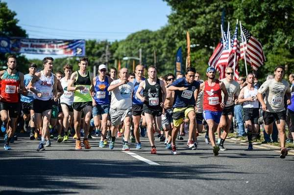 More than 2,200 runners ran four miles around