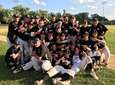 The Wantagh baseball team celebrates its Class A