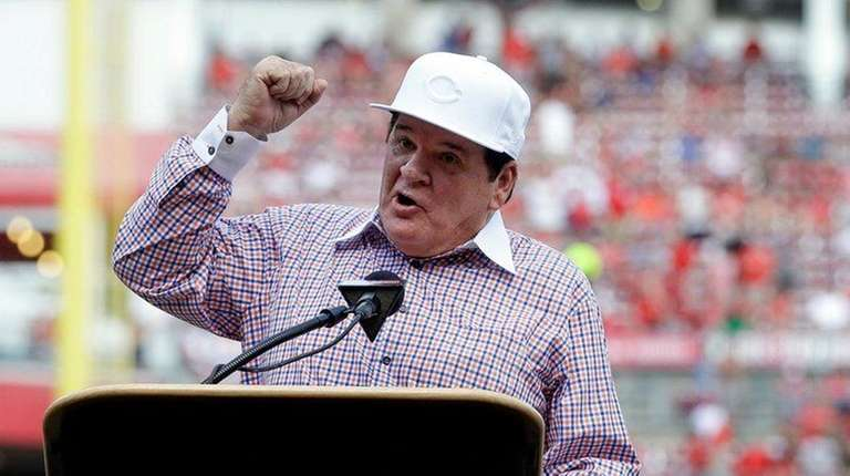 Former Cincinnati Reds player and manager Pete Rose