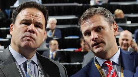 New York Rangers General Manager Jeff Gorton and