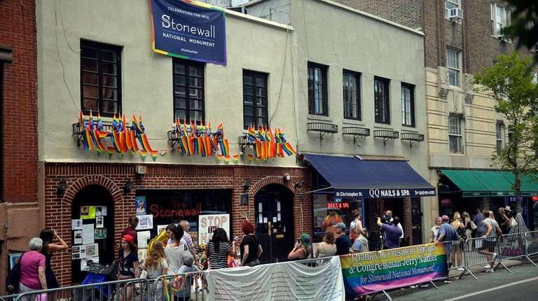 The Stonewall Inn in Manhattan is seen on