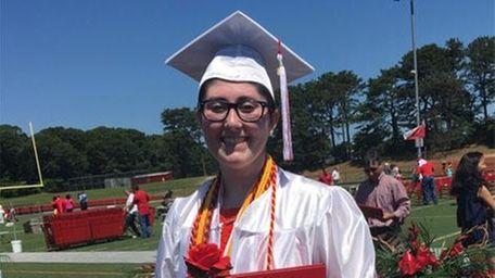 Rebecca Davan graduated from Newfield High School on