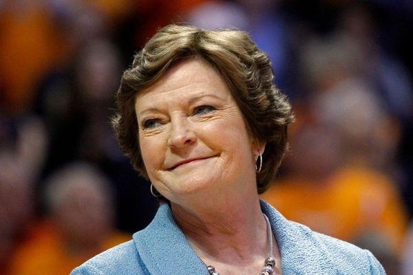 Former Tennessee women's basketball coach Pat Summitt smiles