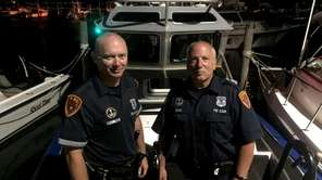 Suffolk Police Marine Bureau Officers Robert Femia and